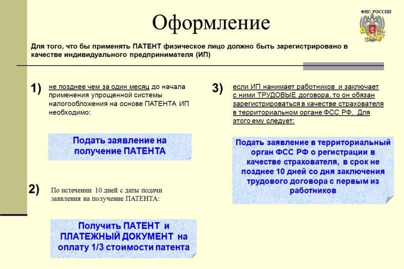 Регистрация ип и применение патента скачать программу по заполнению декларация 3 ндфл 2019 скачать